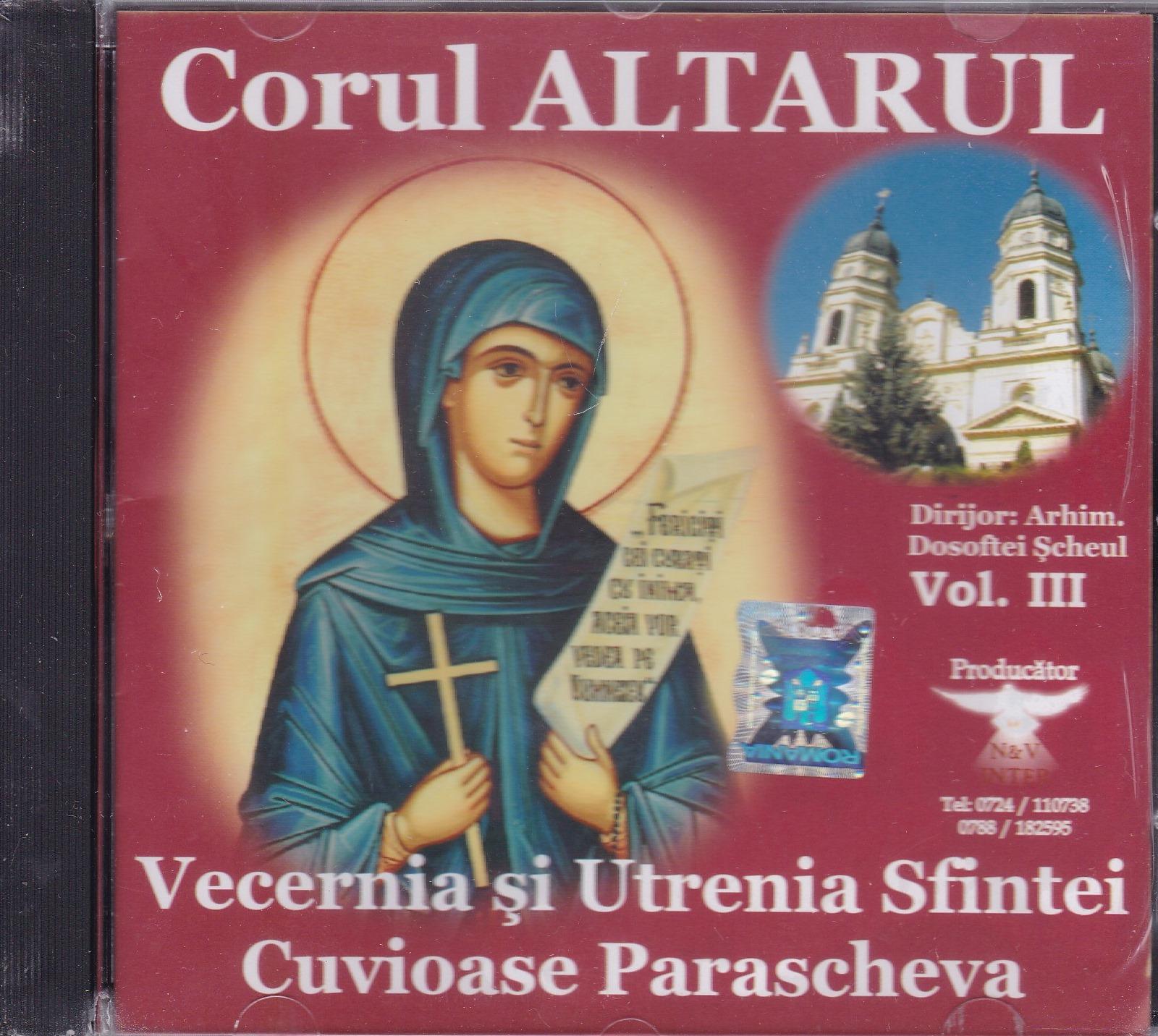CD- Vecernia si Utrenia Sfintei Cuvioase Parascheva vol 3