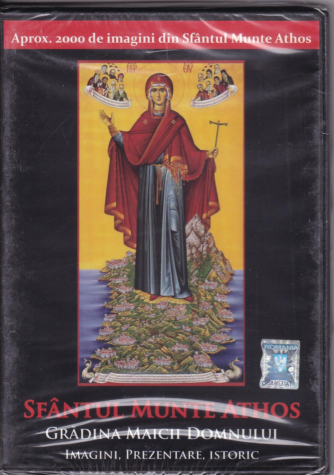 DVD - Sfantul Munte Athos Gradina Maicii Domnului- imagini, prezentare, istoric