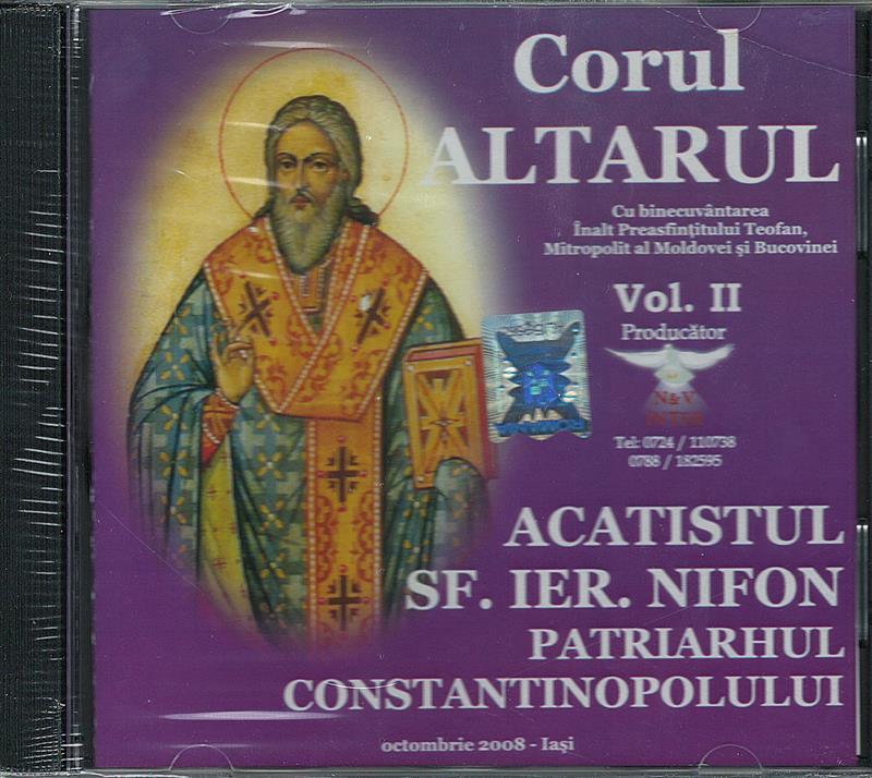 CD- Acatistul Sf Ier. Nifon Patriarhul Constantinopolului