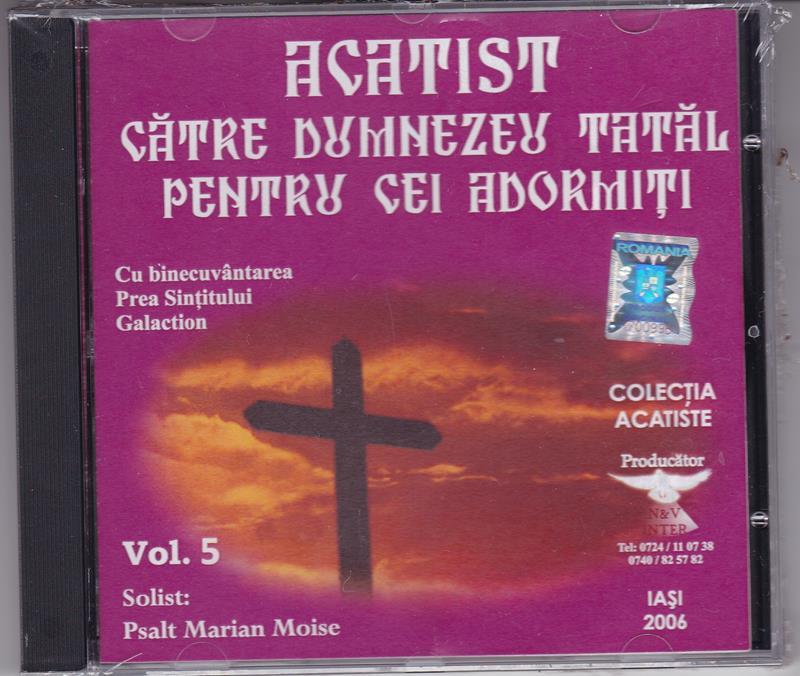 CD- Acatistul către Dumnezeu Tatăl pentru cei adormiţi