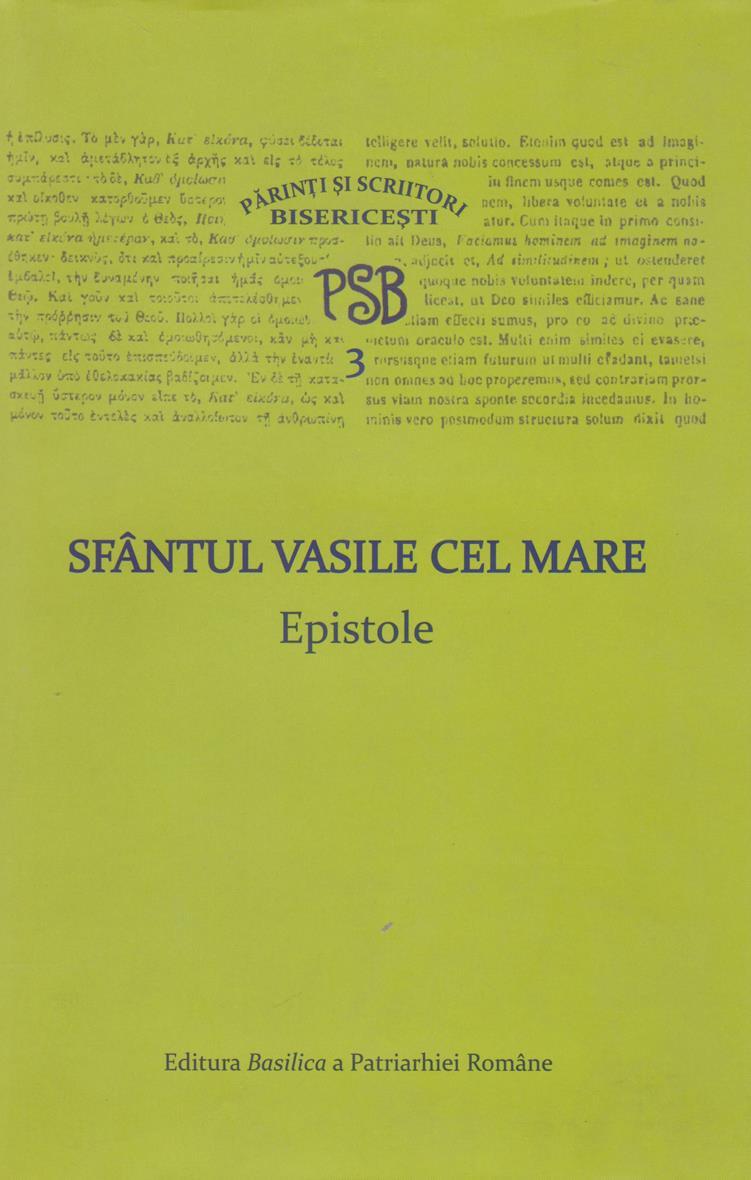 PSB 3 - Sfantul Vasile cel Mare - Epistole