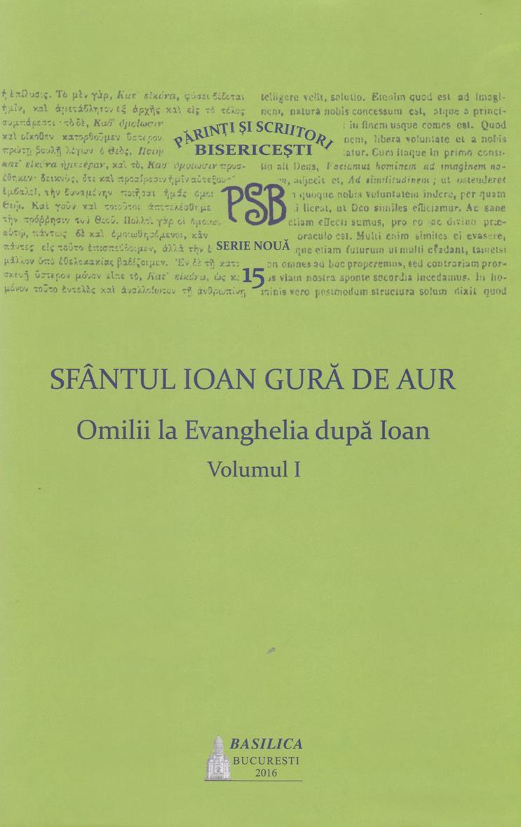 PSB 15 - Omilii la Evanghelia dupa Ioan