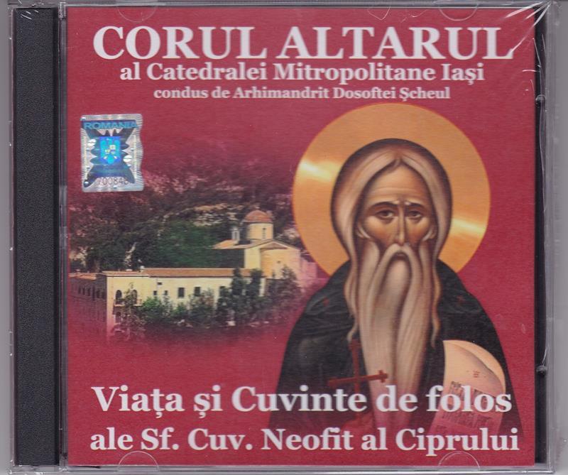 CD- Viata si cuvinte de folos ale Sf Cuv Neofit al Ciprului